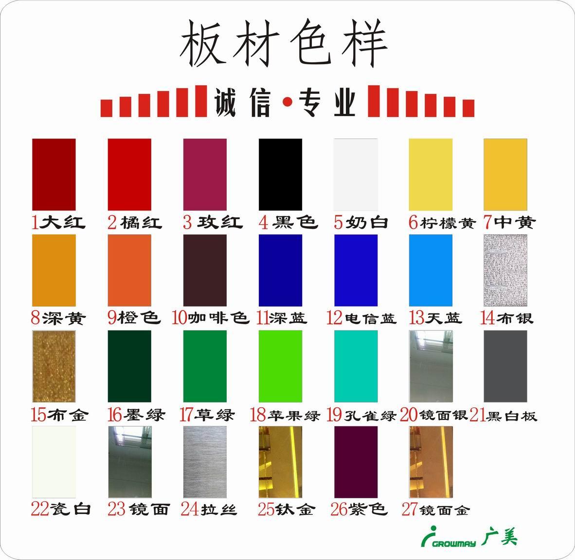 广美色卡及常用标识颜色分析